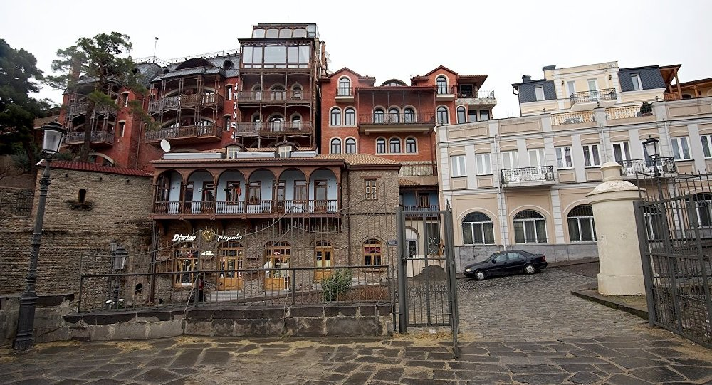 Вид на исторический центр Тбилиси