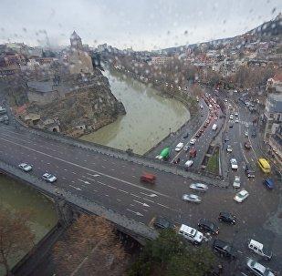 Дождь в Тбилиси