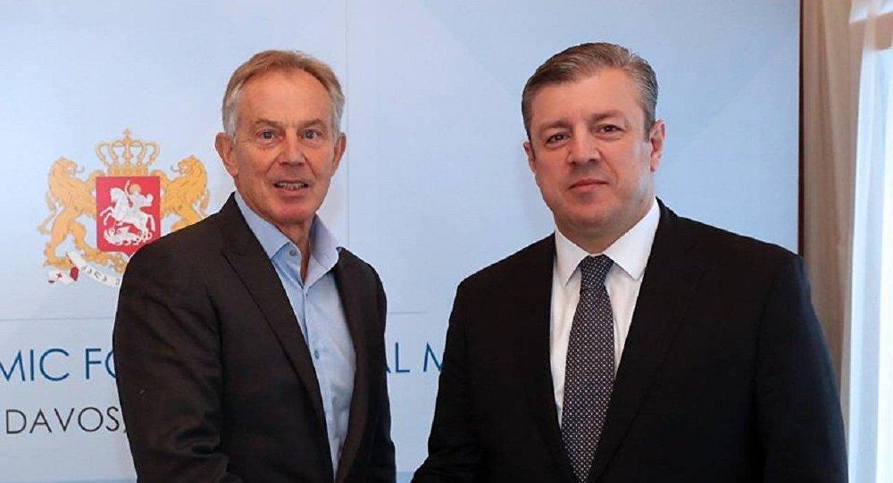 Георгий Квирикашвили и Тони Блэр