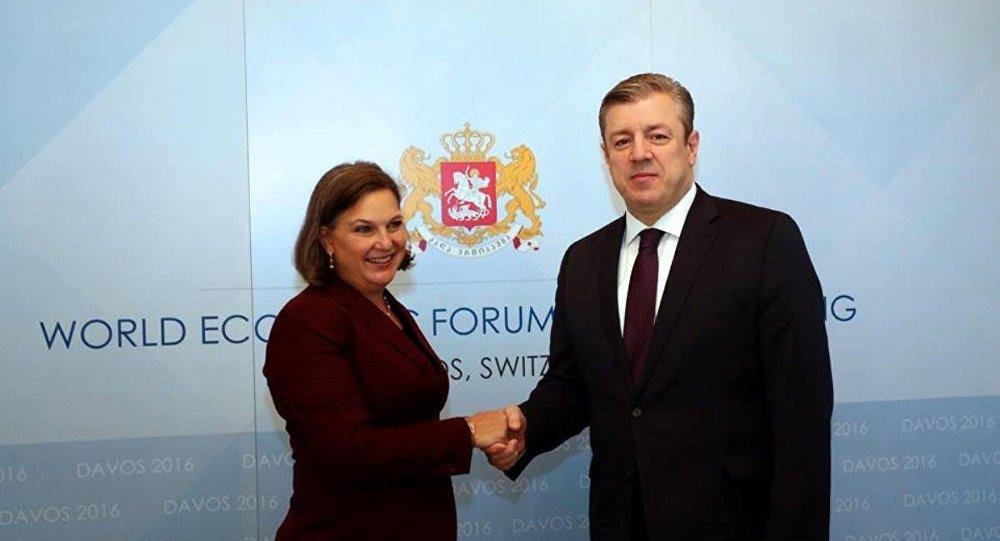 Виктория Нуланд и Георгий Квирикашвили