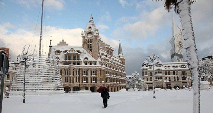 Снегопад в Батуми