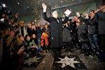 Эльдар Шенгелая на открытии своей звезды