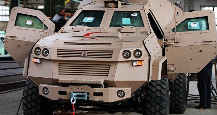 Бронемашина военного научно-технического центра Грузии Дельта