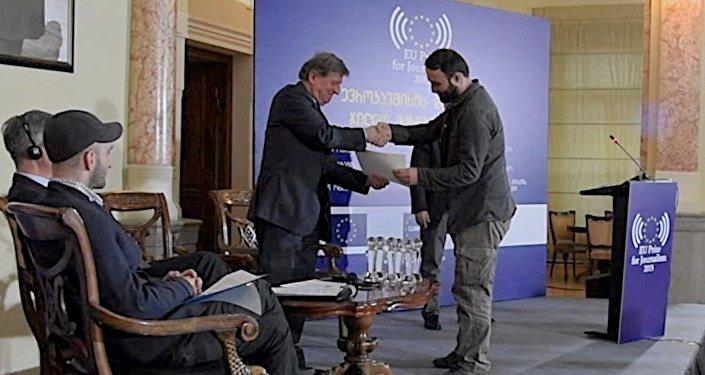 ქართველ ჟურნალისტებს ევროკავშირის წარმომადგენლებმა პრემიები გადასცეს