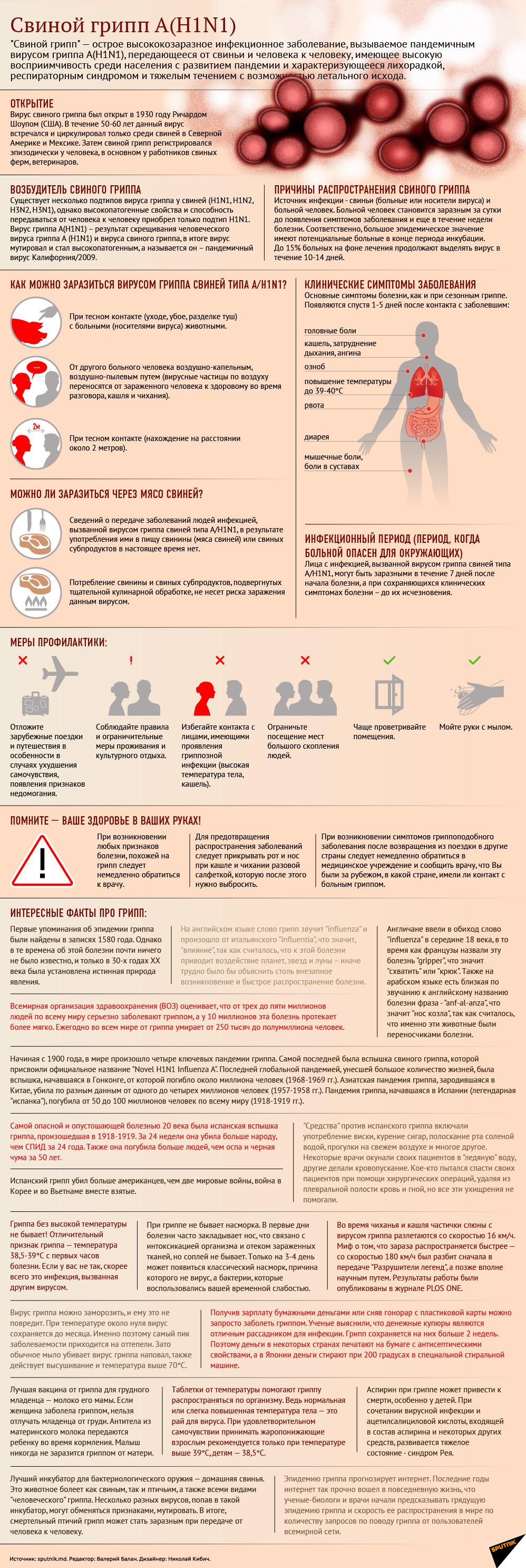 Как защититься от свиного гриппа