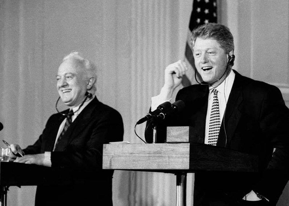 Уже возглавляя Грузию, в 1994 году Эдуард Шеварднадзе и президент США Билл Клинтон подписали соглашение об открытии военных представительств двух стран и осуществлении программы военного сотрудничества.