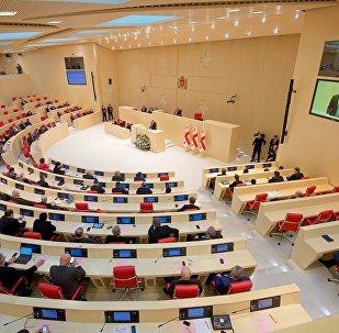 Георгий Маргвелашвили выступает в парламенте