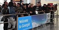 Зал ожиданий в Тбилисском аэропорту