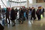 Зона прибытия в Тбилисском аэропорту