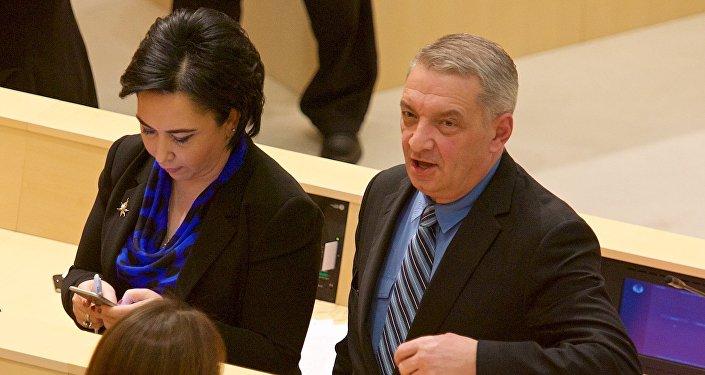 Георгий Вольский на заседании парламента Грузии