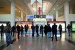Зал ожидания в Тбилисском аэропорту