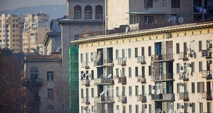 Жилые дома в центре грузинской столицы