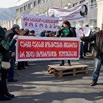 На плакатах и транспарантах участников акции было написано - Нет банковско-процентному рабству!, Правительство нищего населения не должно жить в роскоши!, Президент, ваш народ нуждается.
