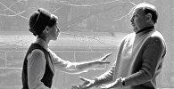 Артисты Грузинского драматического театра им. К. Марджанишвили Софико Чиаурели (слева) и Котэ Махарадзе (справа).