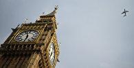 Часовая башня Биг Бен Вестминстерского дворца в Лондоне.