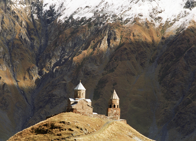 Церковь святой Троицы в окрестностях Гергети