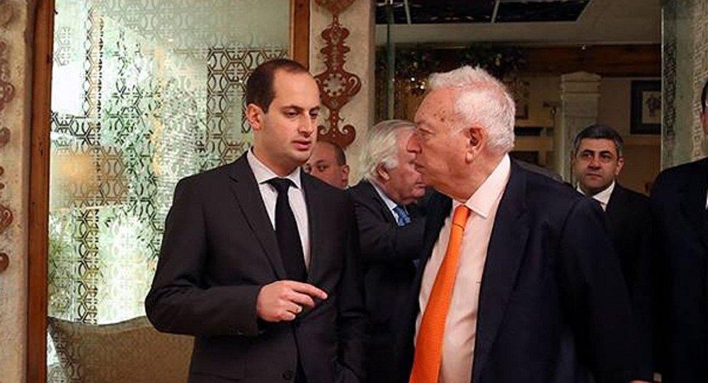 Главы МИД Грузии и Испании Михаил Джанелидзе и Хосе Мануэль Гарсия-Маргальо