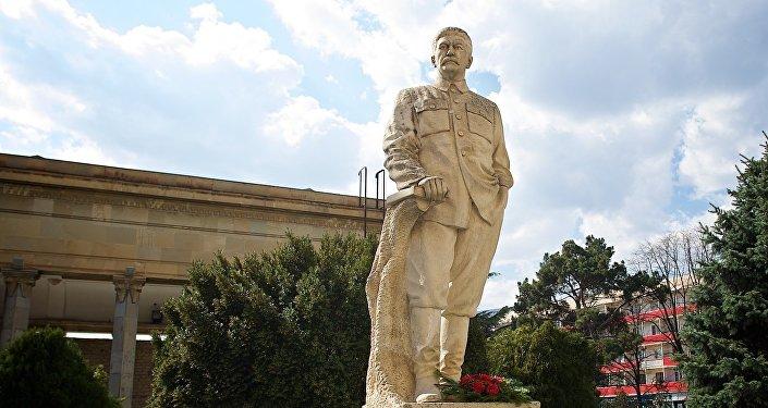 Памятник Сталину в городе Гори