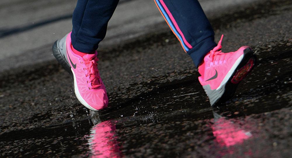 Участница марафона