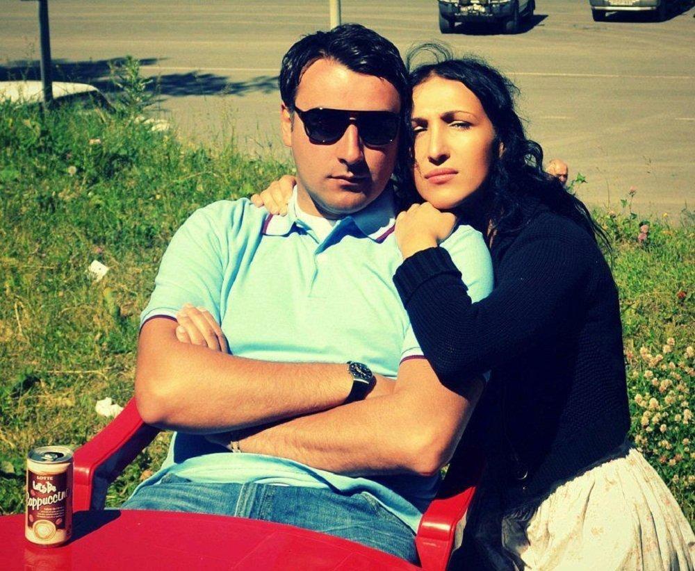 მსახიობი ბესო ზანგური მეუღლესთან ერთად
