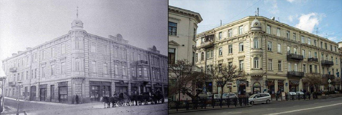 Здание, гда располагались Воды Лагидзе на проспекте Руставели. Архивное фото