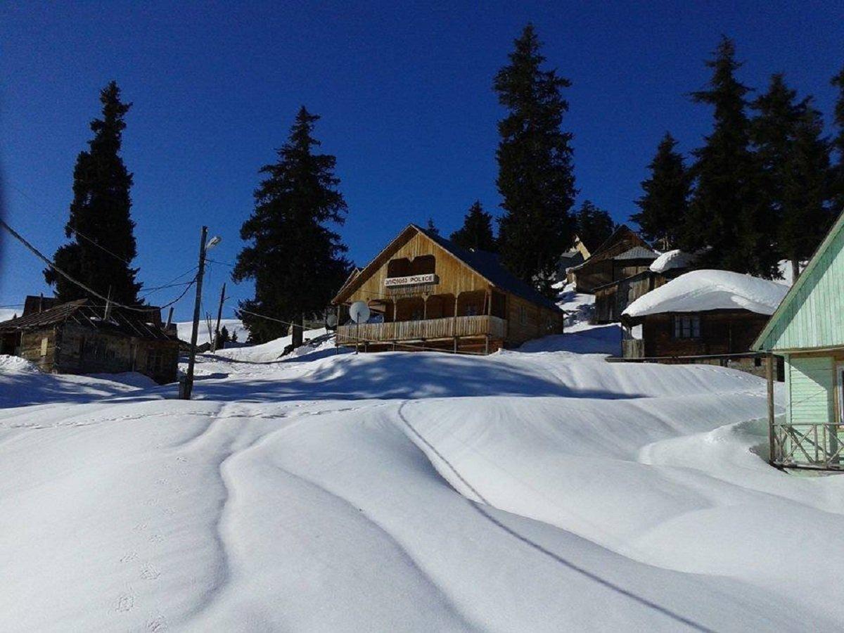 Курорт Бешуми в Аджарии зимой
