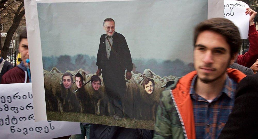 Протест студентов университета