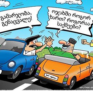 ფრთხილად - გზაზე ქართველი მძღოლია!