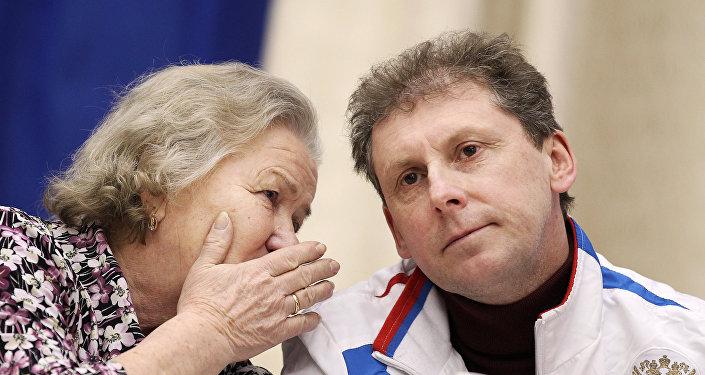 Шестикратная олимпийская чемпионка Лидия Скобликова и олимпийский чемпион Сергей Фокичев