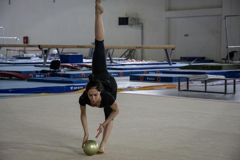 Саломе Пажава на тренировке