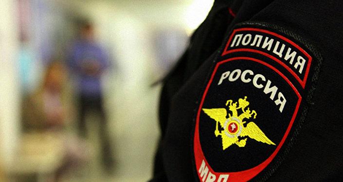 Сотрудник российской полиции