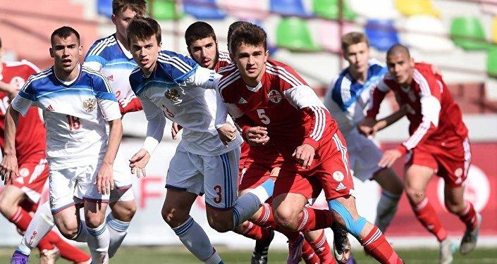 Футбол. Сборные U-17 Грузии и России