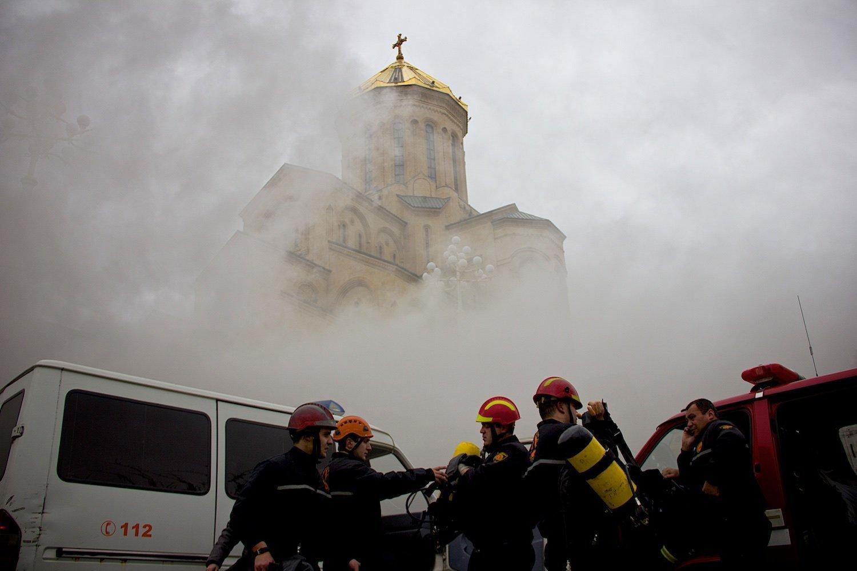 Пожар в храме Самеба