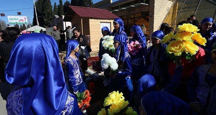 Празднование Новруза в Марнеули