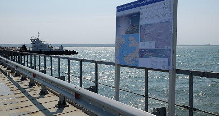Подготовительные работы перед строительством Керченского моста в Тамани