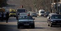 Машины на улицах Тбилиси
