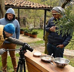 Съемки передачи о грузинской кухни в Аджарии