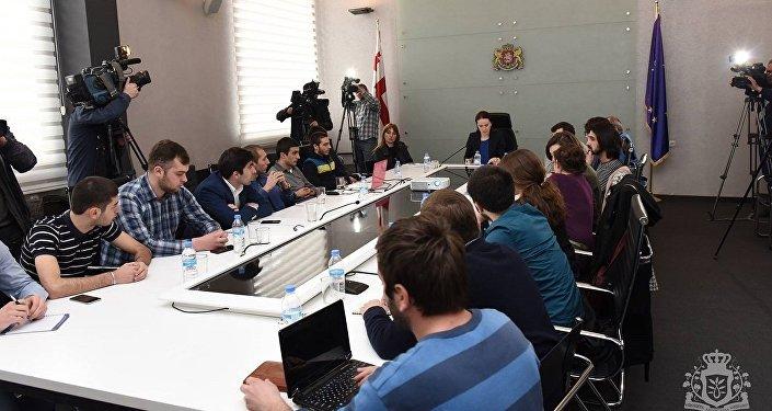 Встреча министра образования Грузии Тамар Саникидзе со студентами ТГУ