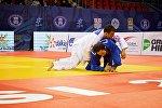 Чемпионат по дзюдо - Амиран Папинашвили (в белом кимоно)
