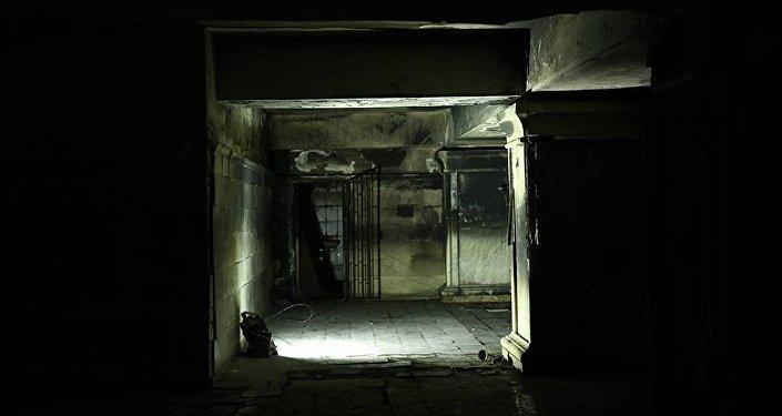 სამების საკათედრო ტაძარში ადგილი, სადაც ხანძარი გაჩნდა