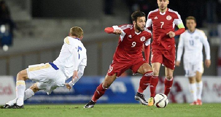 Футбол. Сборная Грузии и сборная Казахстана
