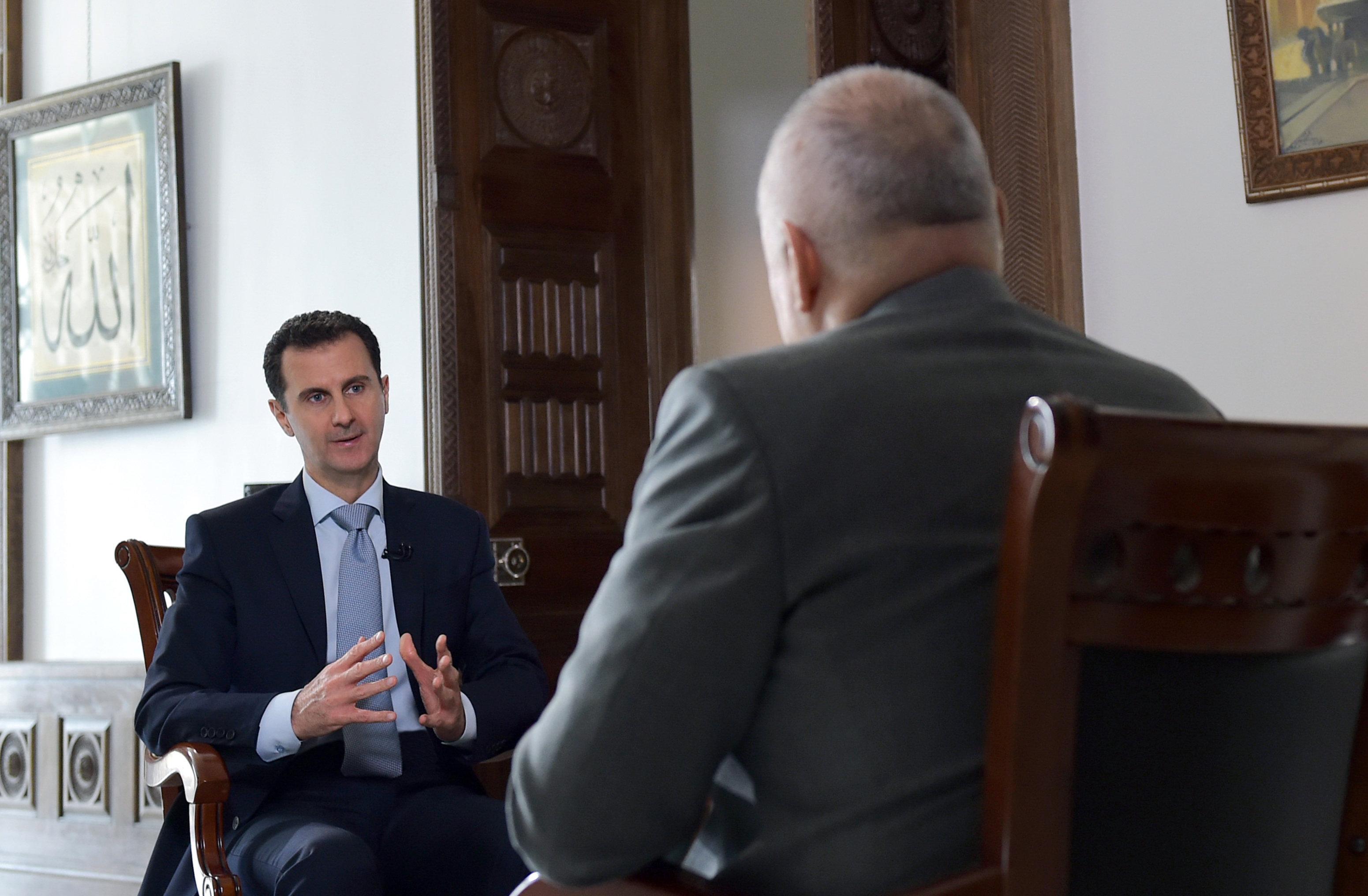Интервью президента Сирии Б. Асада гендиректору МИА Россия сегодня Д. Киселеву