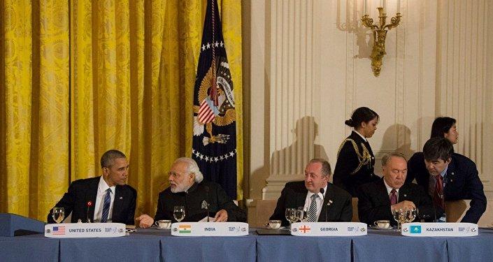 Георгий Маргвелашвили на обеде в Белом доме