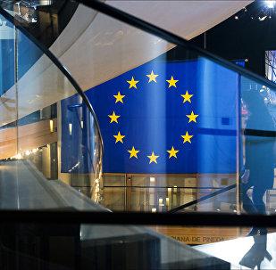 Флаг ЕС в Европарламенте