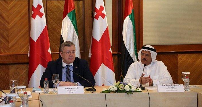 Премьер-министр Грузии Георгий Квирикашвили и ОАЭ Мохаммед ибн Рашид Аль Мактум