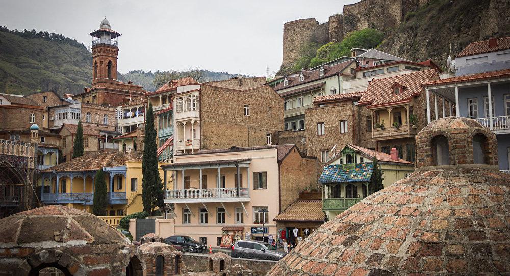 Район Абанотубани в Тбилиси.