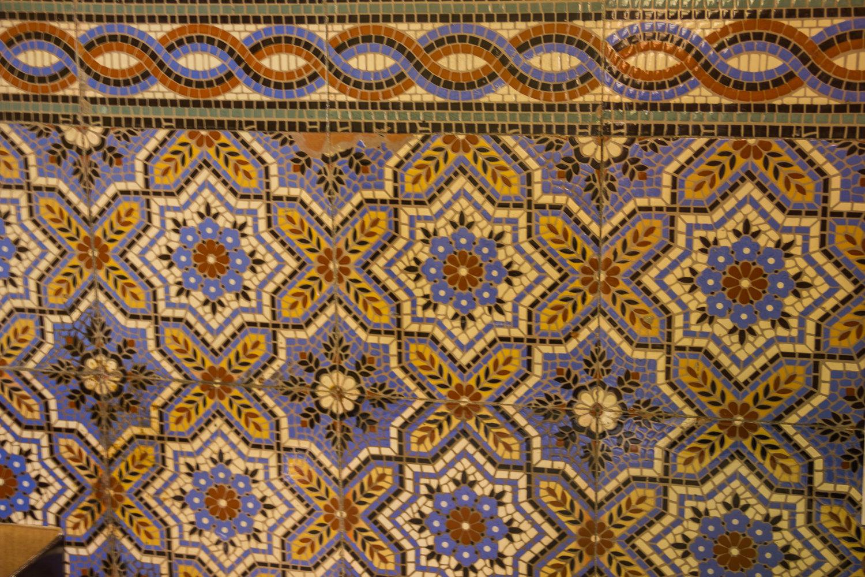 Мозаика в тбилисских серных банях