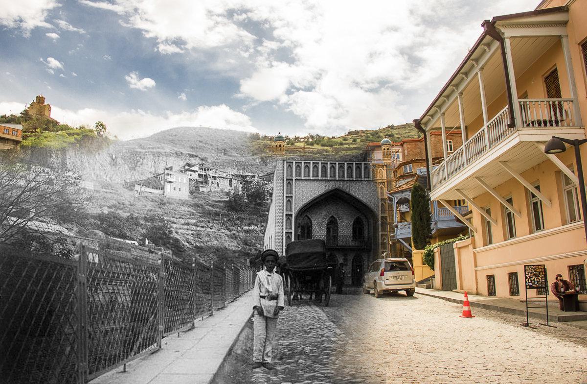 Фотоколлаж. Тифлис - Тбилиси. Абанотубани