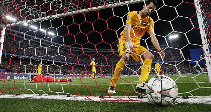 Атлетико Мадрид празднует победу