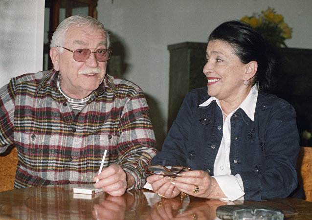 Артист Рамаз Чхиквадзе с супругой Натальей
